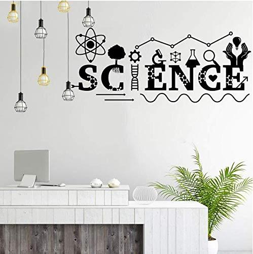 Fancy science famoso tatuajes de pared arte decoración de la pared equipo químico calcomanías de aula adolescente chico dormitorio decoración pegatinas 101X42 cm