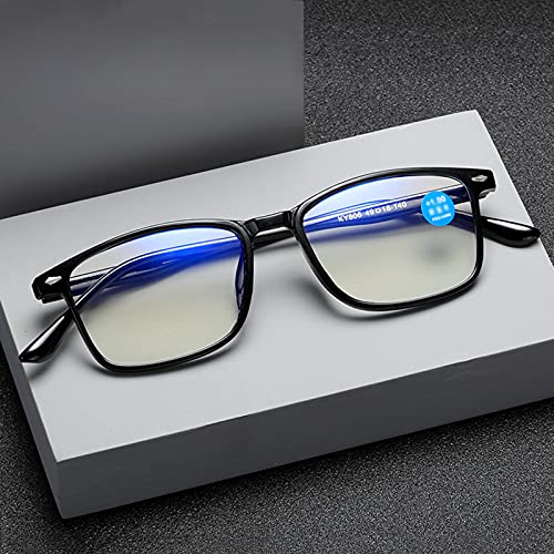 PYAN Gafas de Lectura Anti-luz Azul,Gafas de Lectura HD de Moda,Marco Negro,Ligeras y Cómodas,Visión Ultra Clara,Estilo de Diseñador,Adecuadas para Hombres,Mujeres,Unisex,Ancianos,Presbicia