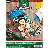 Bucilla 18-Inch Christmas Stocking Felt Applique Kit, Forest Friends