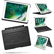 IPad Air 2/ipad 9.7/iPad Pro 9.7 Keyboard Case, detachable case with 7 color backlight bluetooth keyboard for ipad Air/Air2, smart automatic sleep/weak for Apple iPad Pro 9.7 & iPad Air 2