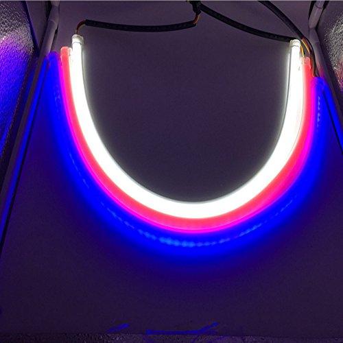 HopeU5® 2x Car LED Luz de conducción diurna Universal 60CM Dual-color Tube Guide Suave y flexible coche LED tira luz impermeable DRL luz de giro