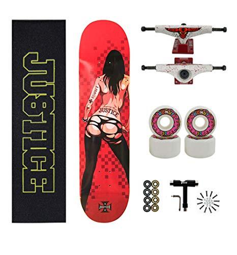 SHENHAI Skateboard Maple Skateboard Anfänger und Maple Tree Skateboard Tattoo_All Größen