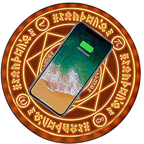 YNITJH con música, Cargador inalámbrico, Almohadilla de Carga inalámbrica rápida de 10 W con certificación Qi para iPhone 12, SE, 11,11 Pro, 11 Pro MAX,AirPods Pro, Galaxy S20, S10, S9, S8