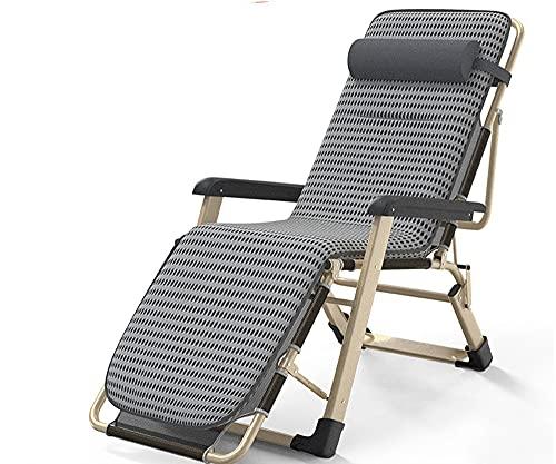 LVLUOKJ Silla reclinable Zero Gravity, Tumbona de jardín Plegable Ligera y Relajante, Tumbona Exterior sillas de Cubierta con Respaldo Alto Ajustable (Color : Breathable Cushion)