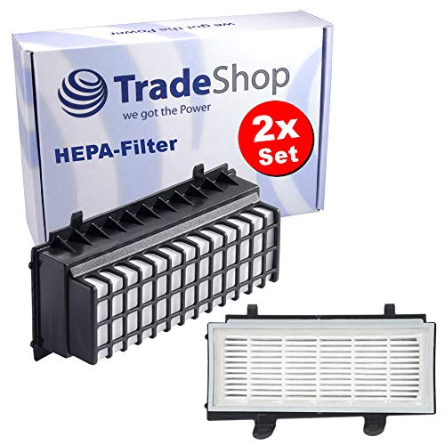 Trade-Shop 2X HEPA-Filter für Bosch BGS5ALL1 BGS5PERF5 BGS5SIL1AU BGS5SIL66A BGS5SIL66B BGS5SIL66C BGS5SILM1 BGS5Z0002 Zoo'o ProAnimal BGS55S66 / Abluftfilter