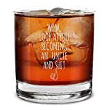 Shop4Ever Wow, Look At You Becoming An Uncle Engraved Whiskey Glass Funny Promoted to Uncle Gift (Uncle)