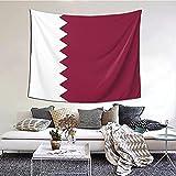 Katar Flagge Wandteppich 152 X 130 cm Wanddecke für Decke Dekorative Wandteppiche für ästhetisches Sofa
