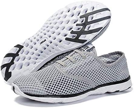 Voovix Mens Quick Drying Aqua Water Shoes Breathable Mesh Sneakers Outdoor Trainers