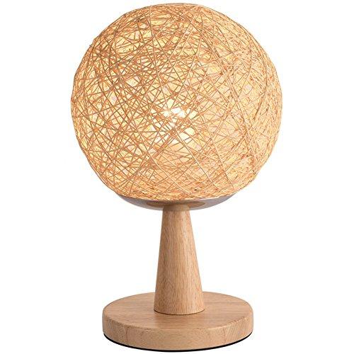 Tafellamp Moderne minimalistische tafellamp creatieve slaapkamer nacht woonkamer eetkamer tafellamp handgeweven snoer tafeltennis tafellamp, H33cm (zonder gloeilamp)