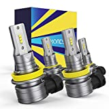 HONCS 9005/HB3 H11/H8 LED Headlight Bulbs Combo, 300% Brighter Wireless LED High Low Beam, 6500K Cool White LED Headlight Conversion Kit IP67 Waterproof, Pack of 4