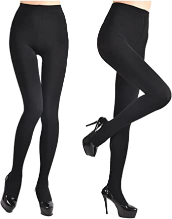 2222fb341317 Fleece Lined Tights for Women Ladies 2Pairs Winter Warm Pants 3Colors  Elstic High Waist Velvet Tights