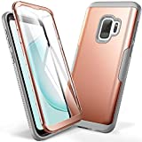 YOUMAKER Galaxy S9 Case, Rose Gold with Built-in Screen Protector Heavy Duty Protection Shockproof Slim Fit Full Body Case Cover for Samsung Galaxy S9 5.8 inch (2018) - Rose Gold/Gray