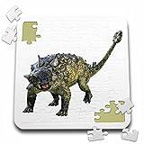 3dRose Euoplocephalus Dinosaur Defending - Puzzle, 10 by 10-inch (pzl_220929_2)