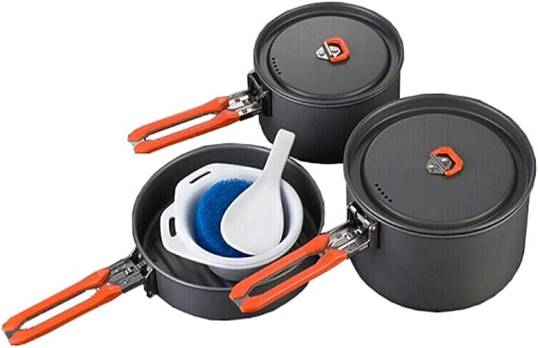 8haowenju Batterie de Cuisine en Plein air, Fête Set Pot, Outdoor Set Pot Camping Cooker Portable Set Set de Vaisselle, de Haute qualité, Cadeau Derniers modèles