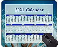 Yantengカレンダー2021、ステッチされたエッジを持つフライングシードふわふわマウスパッド