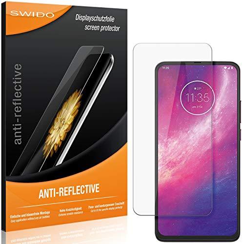 SWIDO Schutzfolie für Motorola One Hyper [2 Stück] Anti-Reflex MATT Entspiegelnd, Hoher Festigkeitgrad, Schutz vor Kratzer/Folie, Bildschirmschutz, Bildschirmschutzfolie, Panzerglas-Folie
