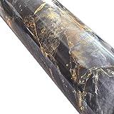 WDragon Vinilo autoadhesivo con aspecto de mármol de granito, adhesivo brillante, para encimera de cocina, 60,96 cm x 199 cm (piedra azul)