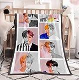 Dolpind Kpop BTS Blanket Love Yourself Flannel Throws Blankets SUGA Jimin V Jungkook Rap Blankets Merchandise