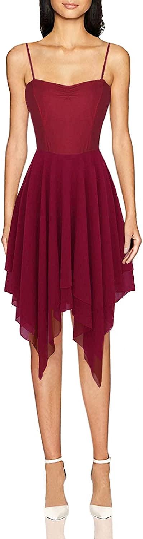 inlzdz Women's Lyrical OFFicial Manufacturer OFFicial shop Asymmetric Chiffon Dress Swe Ballet Dance