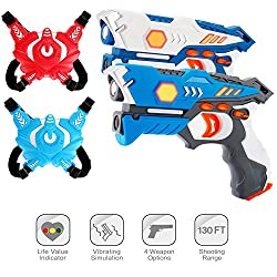 top 10 laser tag gun ComTec laser tags for kids, laser tag kits with pistols and vests, laser weapon toys, gifts for boys and girls …