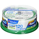 Verbatim バーベイタム 1回録画用 DVD-R CPRM 120分 25枚 ホワイトプリンタブル 片面1層 1-16倍速 VHR12JP25V1