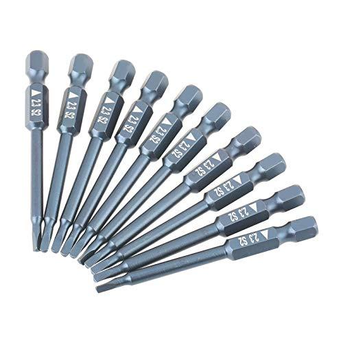LANTRO JS - 10 piezas T23 S2 Puntas de destornillador de cabeza triangular Juego de puntas especiales de vástago hexagonal de 1/4'