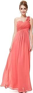 Ever-Pretty Flower One Shoulder Empire Waist Floor Length Bridesmaids Dress 09768