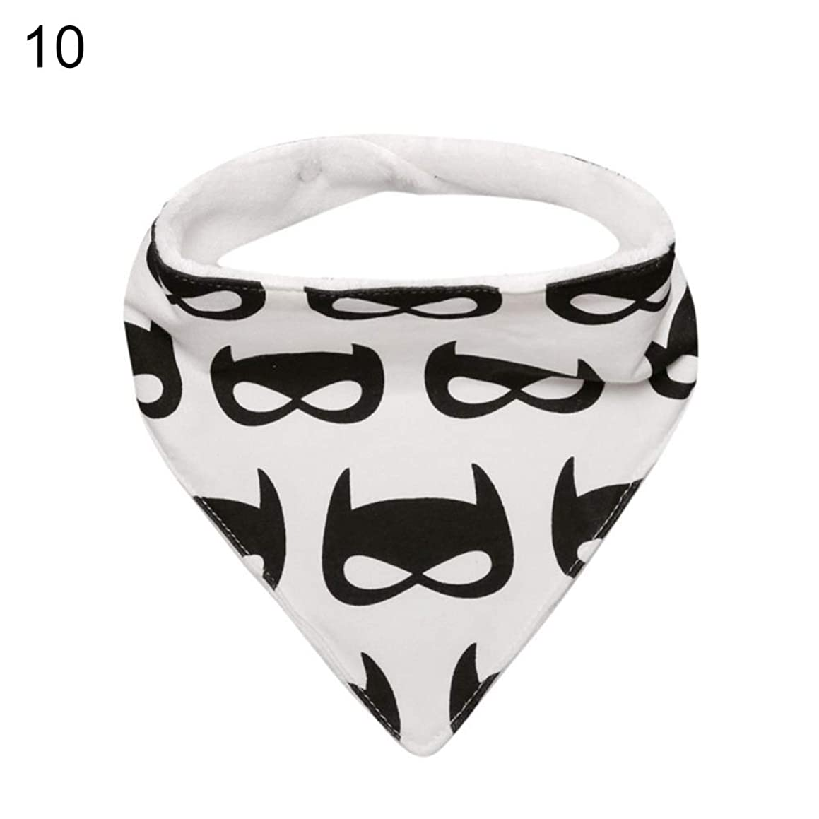 yanQxIzbiu Kids Baby Feeding Head Scarf Towel Bib Boy Girl Bandana Saliva Triangle Towel - #10 Big Batman