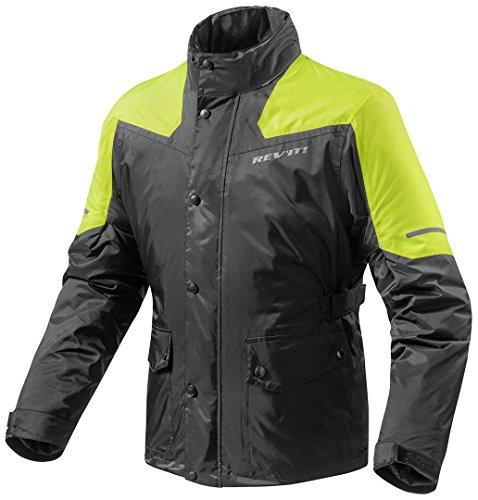 Revit Regenjacke Nitric 2 H2O, Farbe schwarz-neongelb, Größe XL