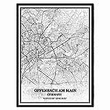 Offenbach am Main Deutschland Karte Wandkunst Leinwand