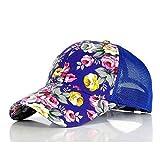 PPSTYLE Nuevas Gorras de béisbol con Estampado Floral Flores Gorras de Hip Hop Snapback Venta al por Mayor Moda Mujer Ocio Gorras de Malla Transpirable de Hueso Plano-5 5