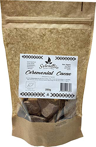 Ceremonial Grade Cacao, 100% Organic & Raw, Criollo Variety, 250g from Ashaninka Tribe in Peru. SelvaBio, Stronger by Nature!