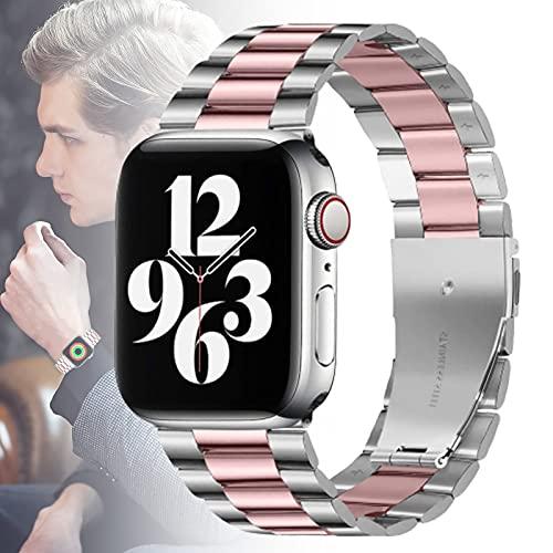 Bandas Compatibles con Apple Watch Band 38 Mm 40 Mm 42 Mm 44 Mm para Mujeres Hombres, Correa De Acero Inoxidable Ultrafina De Repuesto para Iwatch Series 6/5/4/3/2/1 / SE,42MM/44MM