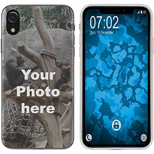 PhoneNatic Case kompatibel mit iPhone Xr Personalisierte Handyhülle Clear zum selbst gestalten mit eigenem Foto
