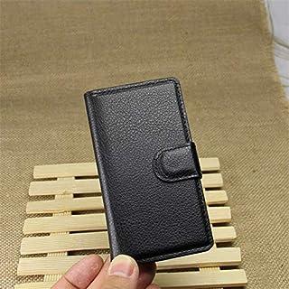جراب جلدي قابل للطي لهاتف Lumia 520 521 525 526 N520 Flame RM-914 4 غطاء خلفي بغطاء محفظة + حامل (LZ BK NK 520)