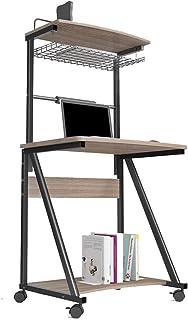 Stylish Simplicity Floor-standing Desktop Computer Desk, Desk, Children's Desk, Desk, Double-layer Mobile Bookcase (color ...