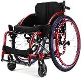 Silla de Ruedas eléctrica Plegable, Tipo simple deporte for los ancianos Sillas de ruedas, ancianos discapacitados simple autopropulsión for el sillón de ruedas mayor, portátil simple de transferencia