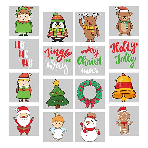 192Ct Christmas Tattoos Party Favors for Kids - Xmas Holiday Stocking Stuffers Eve Gifts Supplies
