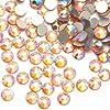 【ラインストーン77】ガラス製ラインストーン 色/サイズ選択可 SS3~SS30 (ピーチAB(ピーチオーロラ), SS20:約4.7mm(約120粒))