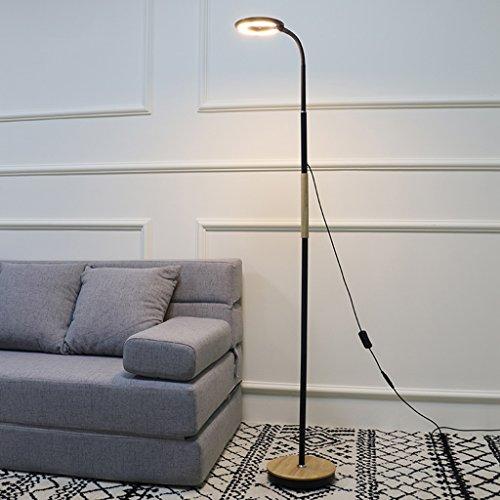 & Daglicht staande lamp, led-leeslamp, verstelbaar licht (knop schakelaar, staande lamp, woonkamer, slaapkamer, kantoor) vloerlamp