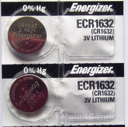 Energizer CR1632 Coin Cell Lithium Battery 3V (2 Batteries)