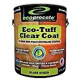 Eco-Tuff Clearcoat Concrete Sealer and Wood Floor Sealer   Polyurethane Countertop Sealer (1 Gallon,...