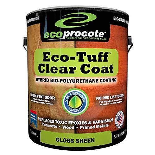 Eco-Tuff Clearcoat Concrete Sealer and Wood Floor Sealer | Polyurethane Countertop Sealer (1 Gallon, Gloss)