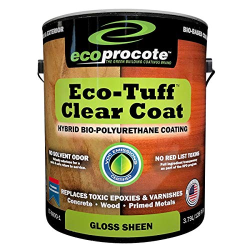Eco-Tuff Clearcoat Concrete Sealer and Wood Floor Sealer | Polyurethane Countertop Sealer (1 Gallon, Gloss)
