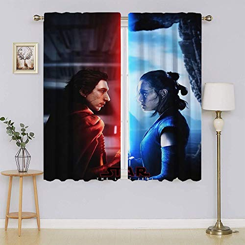 lacencn Here Are the All the Kids Movies Coming to Netflix This Summer Window Panel Cortinas decorativas con aislamiento térmico para dormitorio, 55 x 72 cm