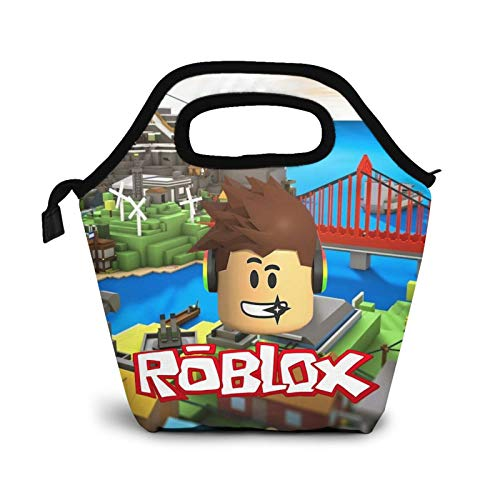 Ro-Blox Lunch Bags Lunch Box Personality Insulated Large Lunch Tote Bag Cooler Tote For Work Picnic Durable Oxford Cloth Warm Snack