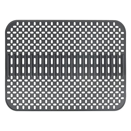 Abtropfmatte aus Silikon Multifunktions, Silikon Spülbeckenmatte, Bar Hitzebeständig und rutschfest-Geschirrabtropfmatte-Spülmatte-Umweltfreundlich -rutschfest Geschirr in Küche, ( 43*32CM)