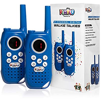 Playco Walkie Talkies for Kids - Keep it Simple with Our Easy to Learn 3 Channel Design - Everlasting Fun for Boys and Girls from Playco Products LLC