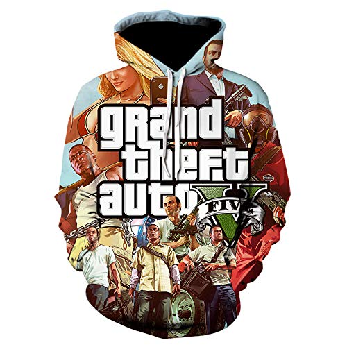 guijiumai Sudadera con impresión 3D 2020 con capucha estampada en 3D Grand Theft Car GTA 5 Sudaderas con capucha Fantasía juegos Street Style Sudadera Unisex Camisetas We-535 S