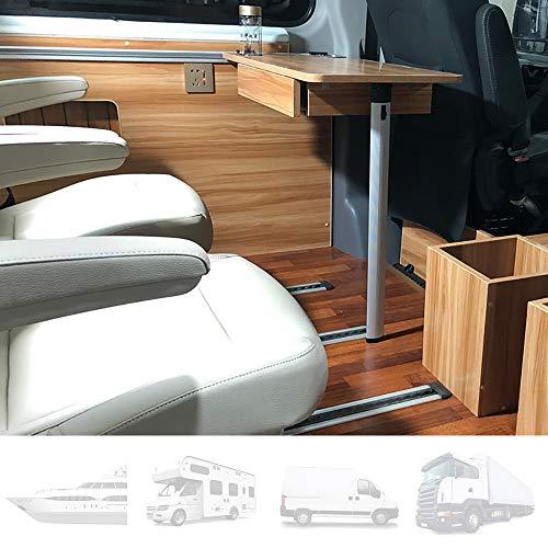 Tischplatte für Wohnwagen, seitlich hängender Klapptisch für Wohnmobile Mit 2 Schalenschlitzen, Innenausstattung für Wohnmobile, Boote, Wohnwagen, Vans, 79 × 39 cm,B
